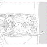 Masterplan mit Kennzeichnung der Nutzungen: 1. Arbeiten 2. Wohnen 3. Hotel 4.