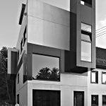 Vertikal organisierter Wohnturm auf vier Ebenen