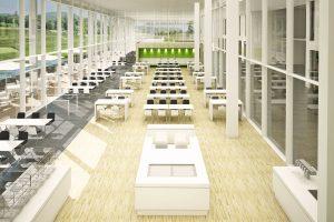 Medizinisches Zentrum II – Cafeteria und Eingangsbereich