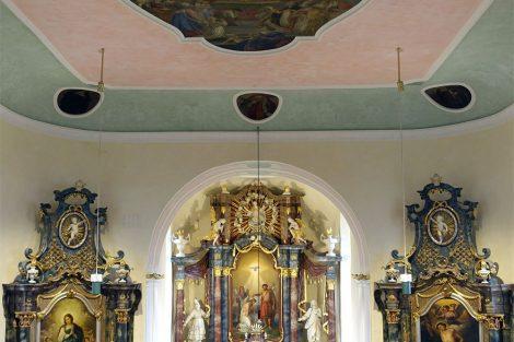 Oberkessach Kirche St. Johannes der Täufer