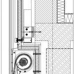 Integration des Sonnenschutzes Schüco CTB in den Fassadenaufbau.