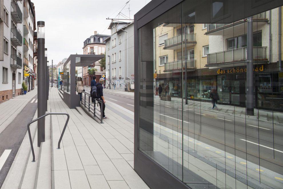 Verkehrsbauten Frankfurt Haltestelle Musterschule Der