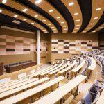Mut zur Oberfläche! Knauf Design eröffnet neue Möglichkeiten bei der Gestaltung von Innenräumen in Verbindung mit hoher Funktionalität, wie am Beispiel des Konferenzsaals der Kinderklinik in Moskau.