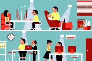 Verbesserte Arbeitsumgebung: Dank Sensorik kann die Arbeitswelt im Smart Office auf die Bedürfnisse jedes Einzelnen angepasst werden.