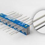 Mit seinen eingesetzten Zugstäben aus Glasfaser verbessert der Isokorb XT-Combar die Wärmedämmung um bis zu 30 Prozent.