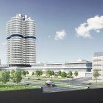 Markantes Ensemble: Das Parkhaus trägt zur Profilbildung des BMW Group Standortes in München bei.