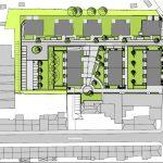 """Lageplan der Klimaschutzsiedlung """"Wohnen am Wasserturm"""", Mönchengladbach."""
