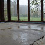 Im Rahmen der Heizungsmodernisierung wurde der Wintergarten erneuert, um den energetischen Zustand des Hauses zu verbessern.