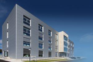 Das neue Verwaltungsgebäude der Schütz GmbH & Co. KGaA