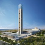 Die im Bau befindliche Djamaâ el Djazaïr Moschee in Algier wird die drittgrößte Moschee der Welt mit dem weltweit höchsten Minarett werden.