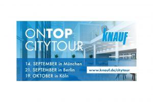 Die Knauf CityTour findet 2017 an drei Standorten bundesweit statt. Die Teilnahme ist kostenlos.
