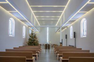 Die Geometrie des Lichts spielt eine große Rolle bei der Gestaltung des Innenraums.