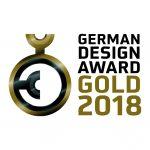Ausgezeichnet mit dem German Design Award 2018: Gold für das Türsystem Schüco ADS 90.SI SimplySmart Design Edition mit DCS Touch Display.