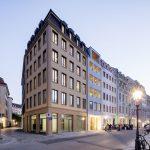 """Neubau Gebäudeensemble mit Wohn - und Gewerbenutzung """"Frieseneck"""" am Neumarkt, Dresden"""