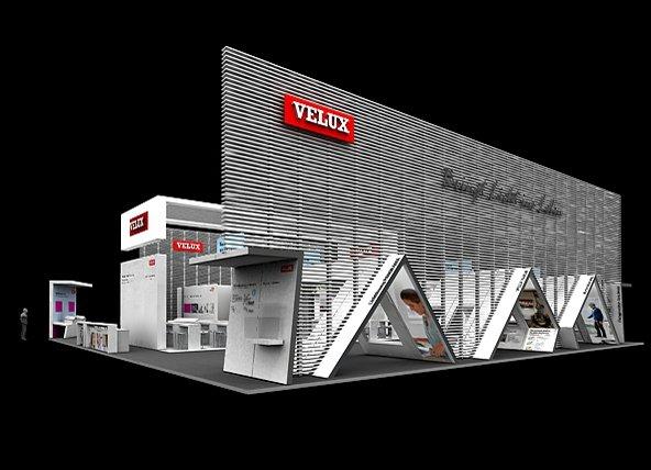 Velux präsentiert seine Produkte auf der DACH+HOLZ auf insgesamt knapp 600 m² Ausstellungsfläche.