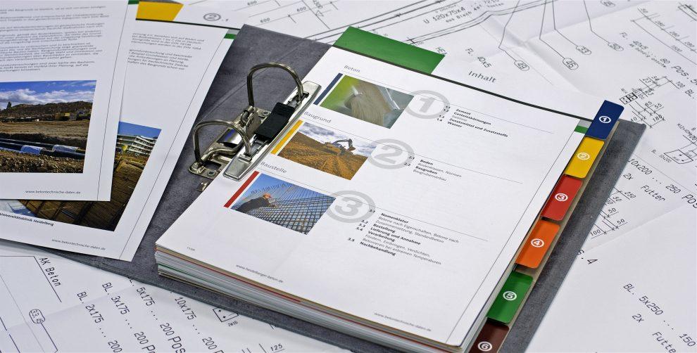 Der Architektenordner macht Lust auf das Bauen mit Beton.