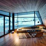 Die über Eck geführte Wohnraumfassade kombiniert die Fassade Schüco FW 50+.SI mit dem Faltschiebesystem Schüco ASS 70 FD für einen ganzjährigen Panoramablick und direkten Terrassenzugang an wärmeren Tagen.