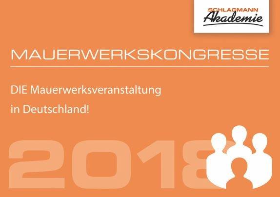 Mauerwerkskongress 2018