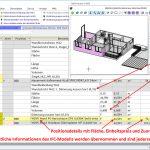 Sämtliche Informationen des IFC-Modells werden übernommen und sind  jederzeit nachvollziehbar