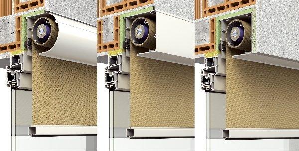 Der textile Sonnenschutz vor dem Fenster: Den Zip-Screen von Roma gibt es in unterschiedlichen Optiken: rund, quadratisch oder verputzbaren Blenden. Außerdem stehen drei Kastengrößen zur Verfügung. So ist eine optimale Anpassung an die bauseitigen Vorgabe