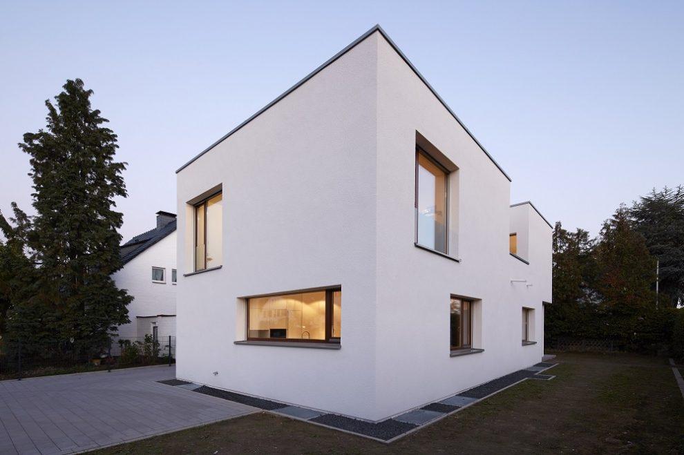 Wohngebaude Neubau Einfamilienhaus In Dusseldorf Arcguide De