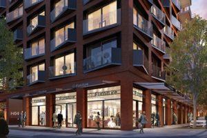 Im Quartier KPTN werden rund 150 Wohnungen, Einzelhandel, Gastronomie und ein familienfreundliches Hotel entstehen.