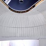 Bis an die Grenze gebogen wurden die Holzspanten für die kuppelförmige Decke.