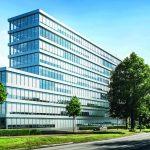 Der Schüco Sonnenschutz CSB fügt sich nahtlos in das äußere Design eines Gebäudes ein.