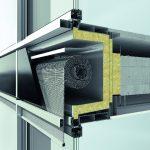 Integration Sonnenschutz CSB in Fassadensystem Schüco FWS 50.