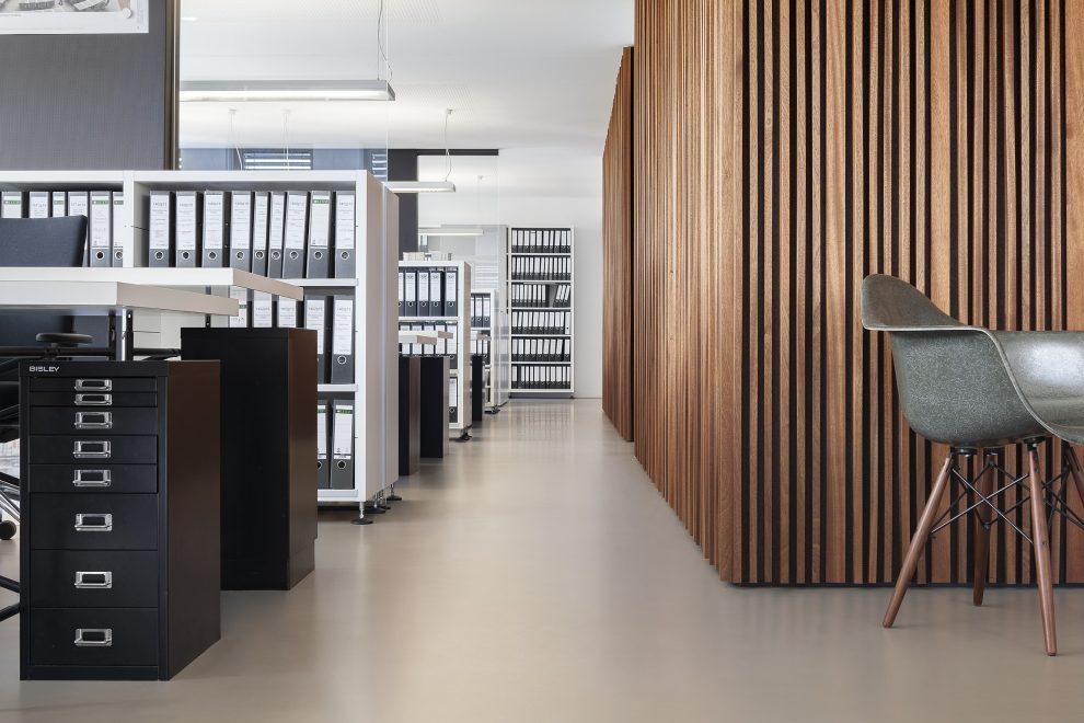 Büroräume Mit Konzept Und Kautschukboden