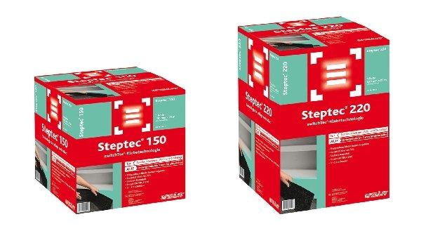 Mit Uzin Steptec aus der SwitchTec-Klebetechnologie Familie ist eine sichere, schnelle und lösemittelfreie Treppenrenovierung bei sofortiger Begehbarkeit möglich.