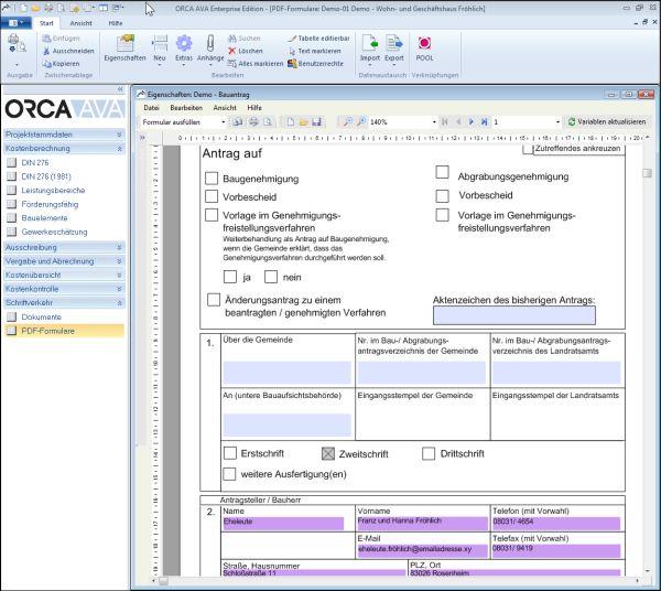 Mit ORCA AVA und www.ausschreiben.de Leistungsverzeichnisse im Handumdrehen