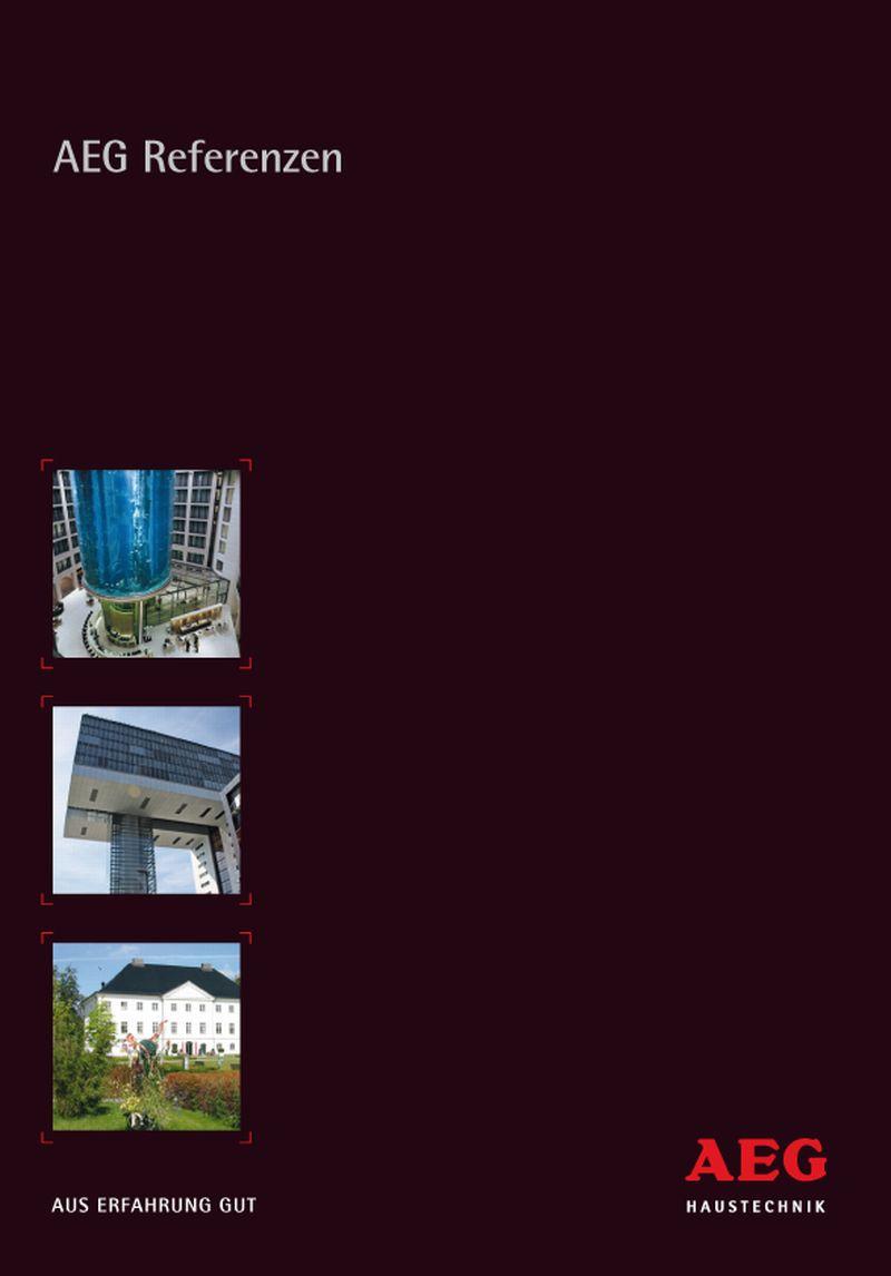 Diese Broschüre informiert über die verschiedenen Einsatzmöglichkeiten der Produkte von AEG Haustechnik. Schwerpunkte bilden die Produktbereiche Fußbodenheizung (THERMO BODEN), Spiegelheizung, energiesparende Durchlauferhitzer, Freiflächenheizung, Infraro