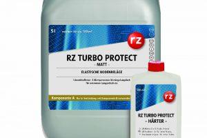 RZ Turbo Protect heißt der einzigartige lösemittelfreie 2K-Versiegelungslack für extremen Langzeitschutz elastischer Bodenbeläge.