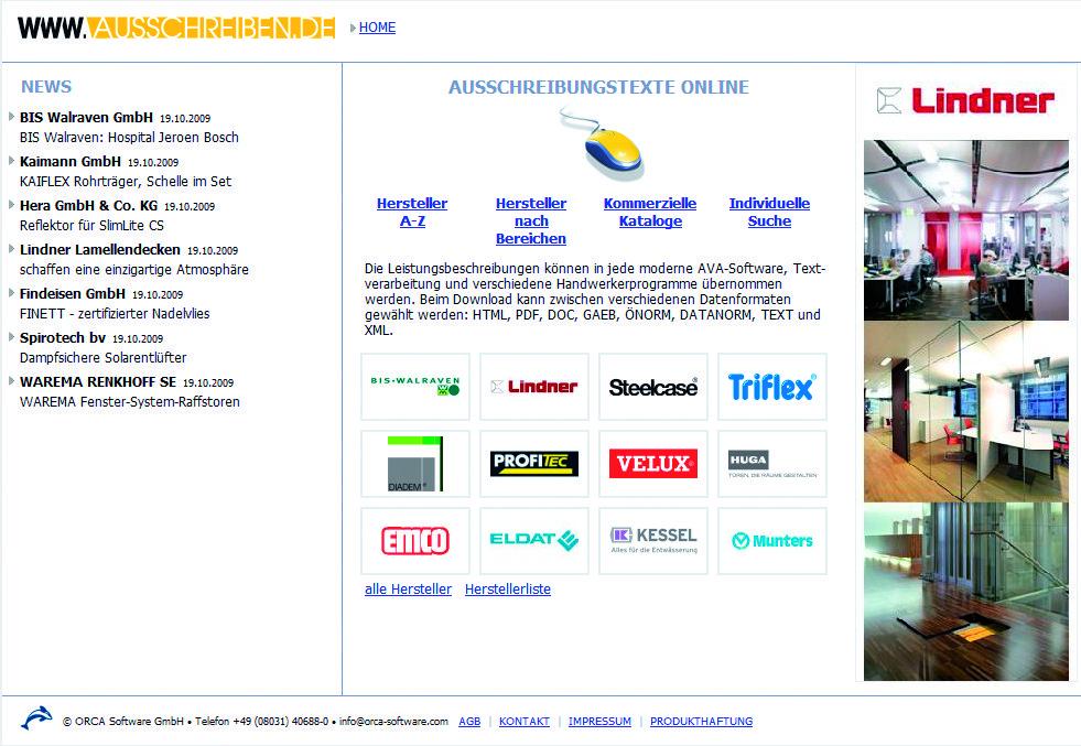 Gratis-Ausschreibungstexte aus www.ausschreiben.de per Drag & Drop in das LV
