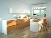 Küche mit Dekoration