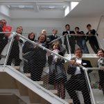 Nicola Ende (Architektur-Kommunikation VELUX Deutschland GmbH, rechts unten) und Astrid Unger (Pressesprecherin VELUX Deutschland GmbH, rechts oben) begrüßen die Architekten gemeinsam mit Claus-Peter Haller (Chefredakteur house and more, ganz links) sowie