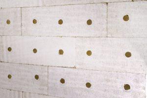 Dämmstoff-Rondellen sorgen für eine homogene Oberfläche