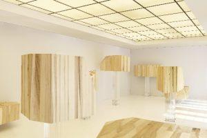 """American Tulipwood """"In den Wolken"""" auf der Handmade Ausstellung vom Wallpaper in Mailand"""