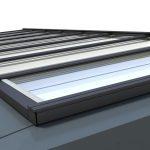 Das VELUX Modulare Oberlicht-System zeichnet sich durch eine klare, minimalistische Designsprache aus, die Qualität und Langlebigkeit vermittelt.