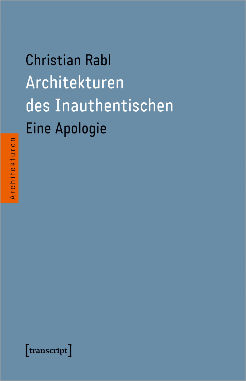 Buchcover Architekturen des Inauthentischen