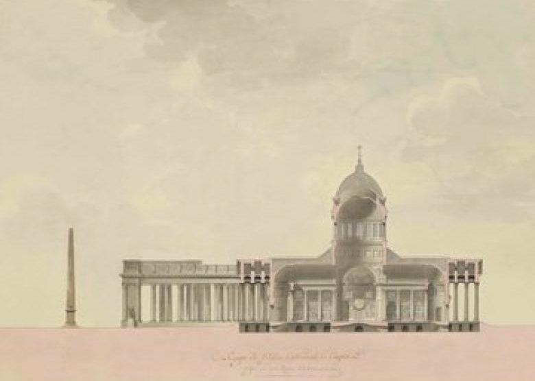 Jean-François Thomas de Thomon (1754–1813) Andrei N. Woronichin (1759–1814), Architekt Sankt Petersburg, Kasaner Kathedrale, © Staatliche Museen zu Berlin, Kunstbibliothek/Dietmar Katz