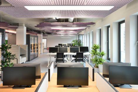 Akustikoptimiertes Open Office