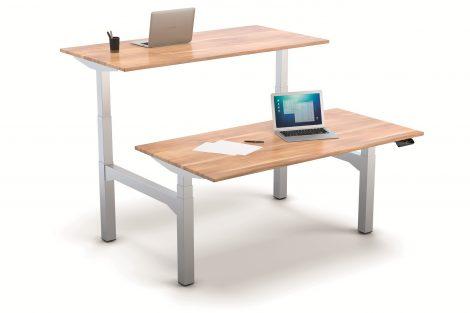 Flexibles Baukastensystem für Sitz-Steh-Arbeitsplätze