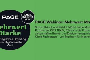 Webinar Mehrwert Marke | Bild: PAGE Academy
