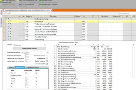Bidirektionale Excel-Schnittstelle in California.pro integriert
