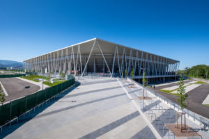 Europa Park Stadion Freiburg von HPP, Außenansicht