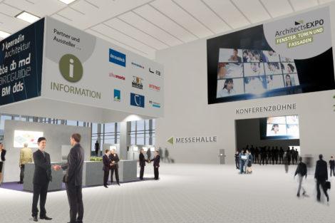 Foyer der virtuellen Messe ArchiExpo Fenster, Türen, Fassaden