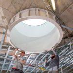 Lichtkuppel aus Formteilen Knauf