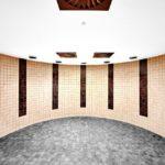 Die Zementbauplatte trotzt der Wassereinwirkung